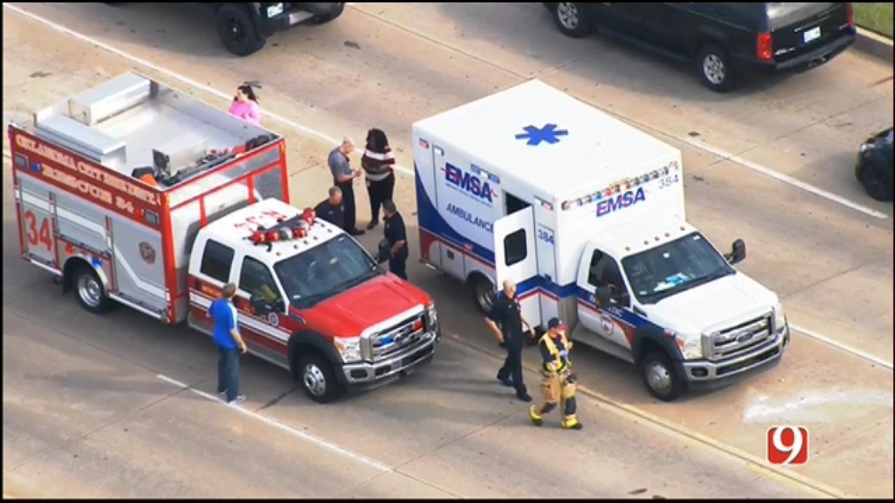 WEB EXTRA: SkyNews 9 Flies Over Auto-Ped Crash In NW OKC