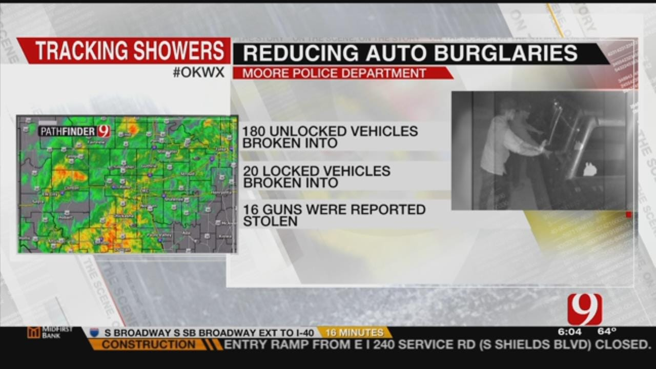 Moore Police Promotes New Slogan After High Number Of Auto Burglaries