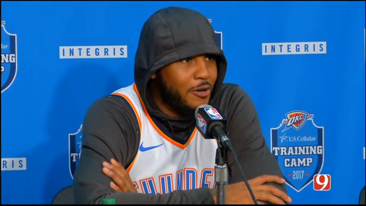 Thunder Media Day: Carmelo Anthony