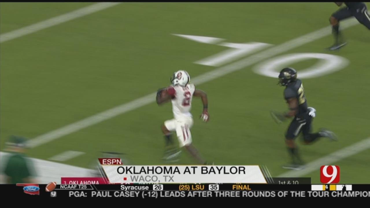No. 3 Oklahoma Overcomes Baylor 49-41 For 14th Straight Win