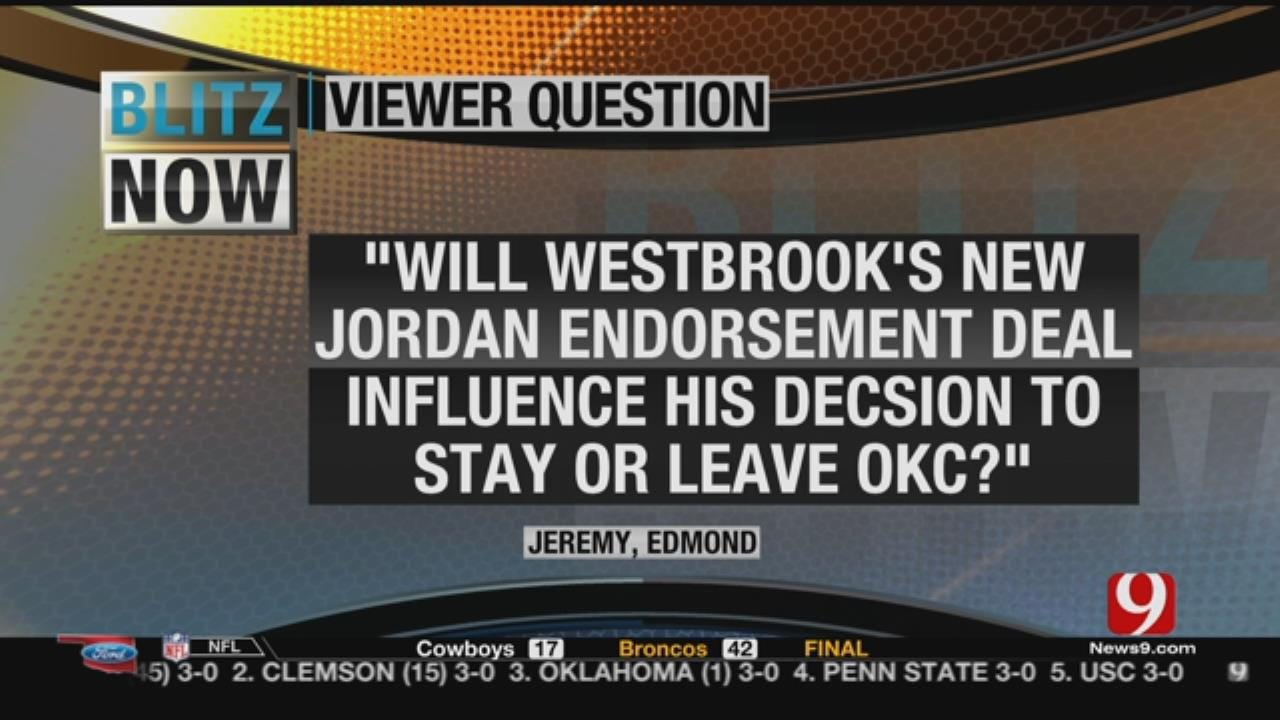 Viewer Question About Westbrook's Endorsement