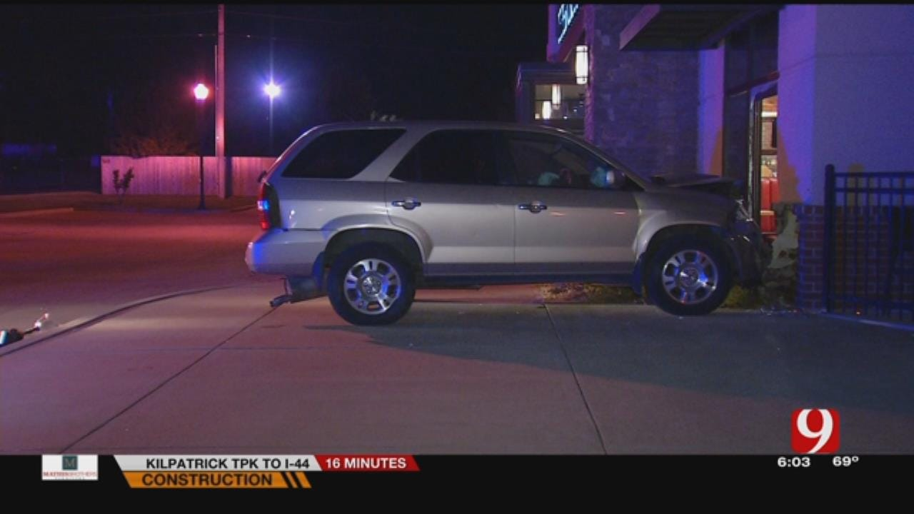 Driver Accused Of DWI After Car Smashes Into Edmond Restaurant
