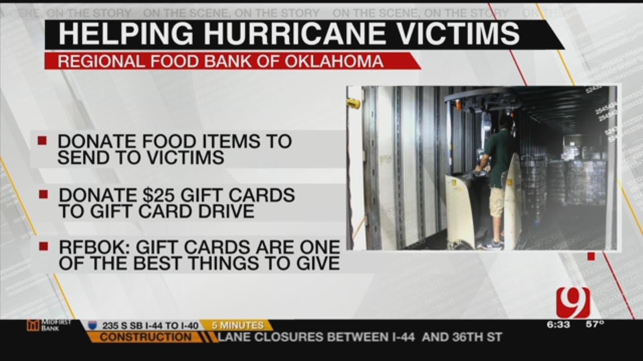Regional Food Bank Of Oklahoma Accepting Donations For Hurricane Victims