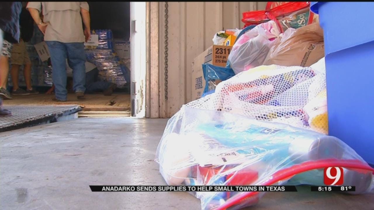 Anadarko Sends Supplies To Help Small Towns In Texas Hit By Harvey