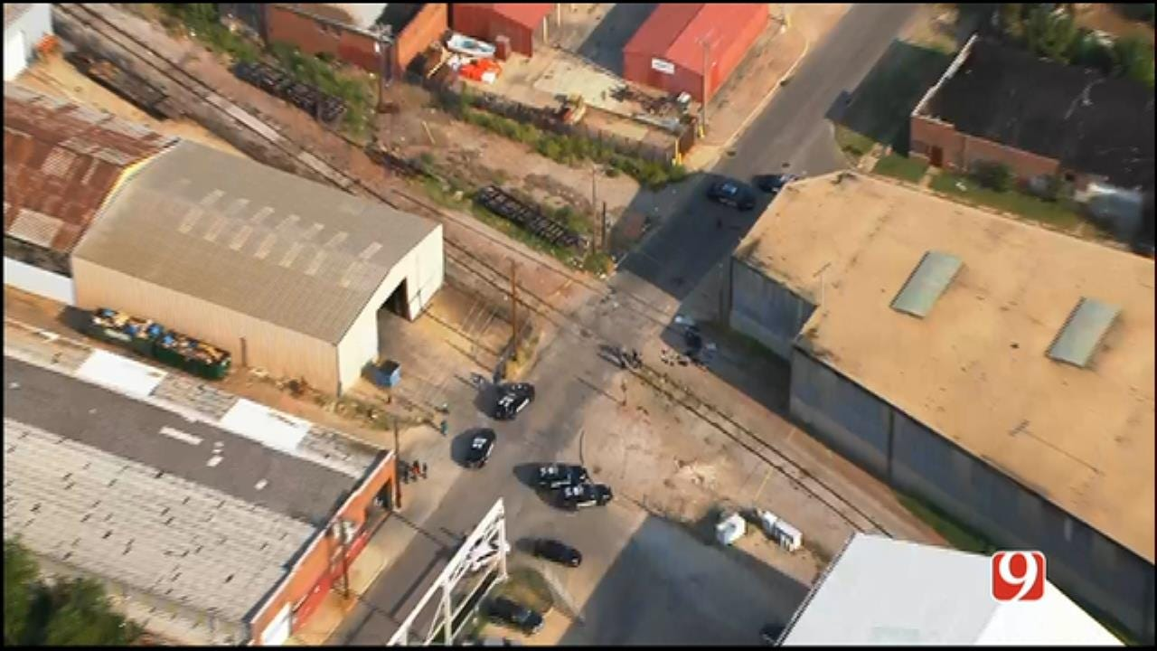 WEB EXTRA: SkyNews 9 Flies Over Deadly Auto-Ped Crash In Downtown OKC