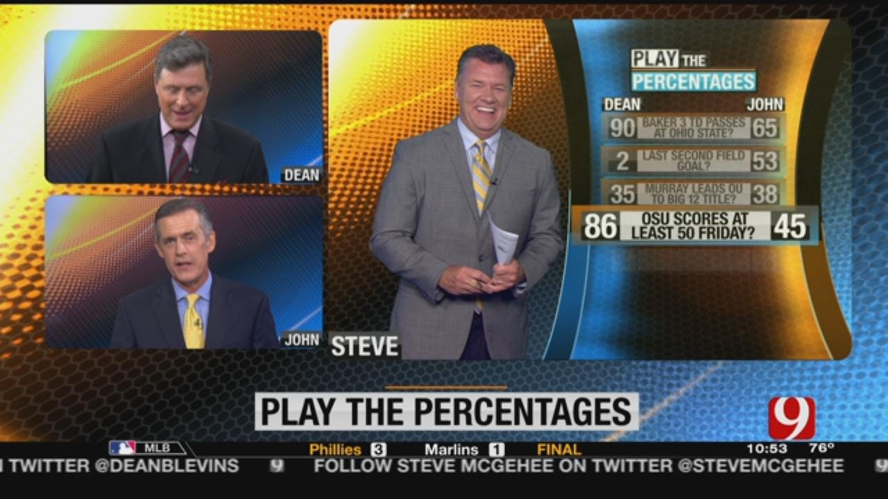 Play The Percentages With Dean And John