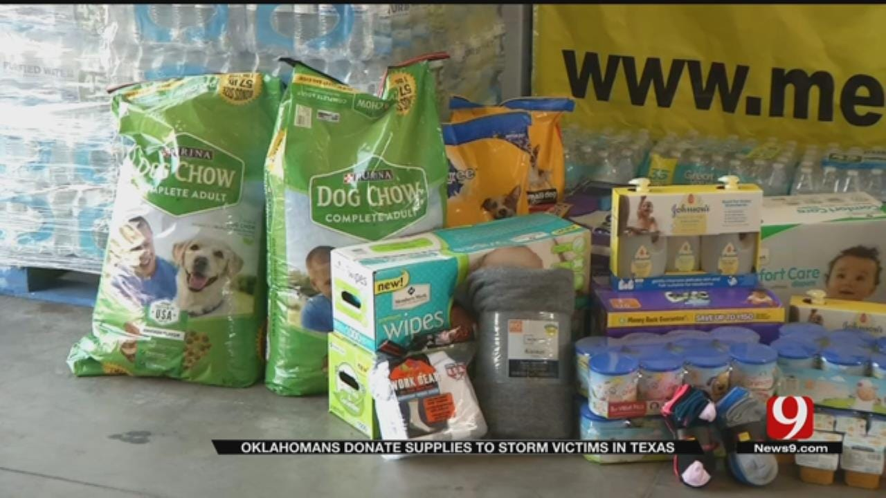 OKC Contractor, Volunteers Filling Trucks With Goods For Harvey Victims In S. Texas