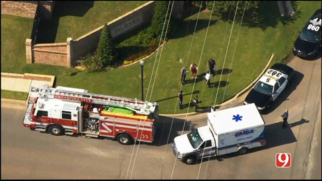 WEB EXTRA: Bob Mills SkyNews 9 HD Flies Over Shooting Investigation In SW OKC