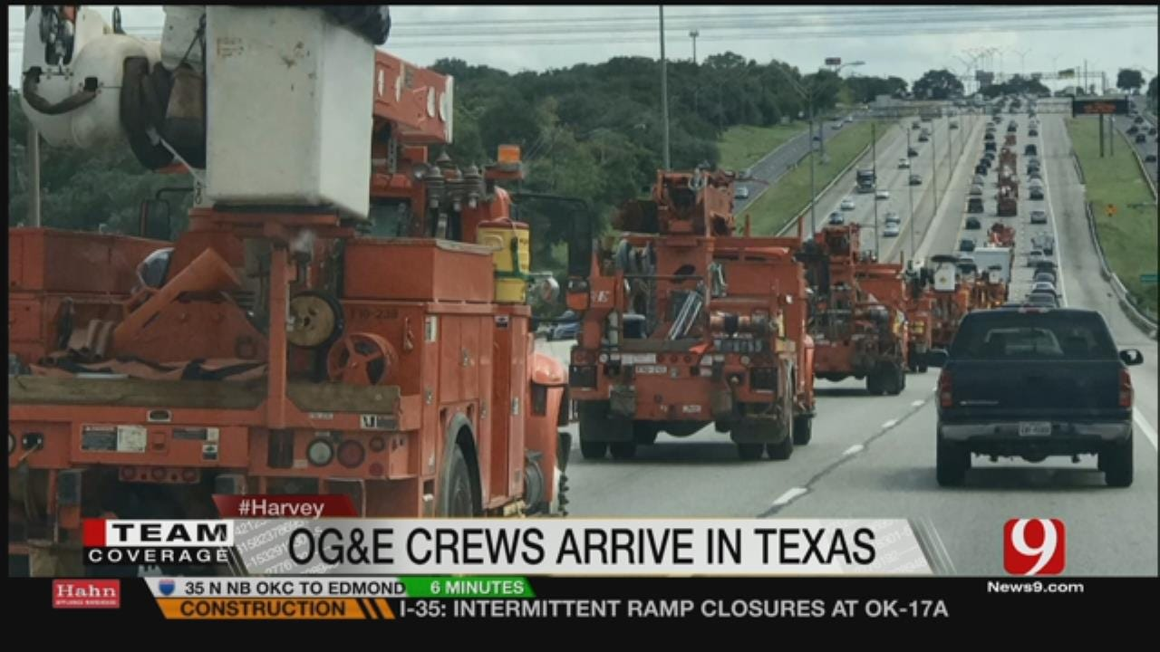OG&E Crews Head To Texas Gulf For Harvey Relief Efforts