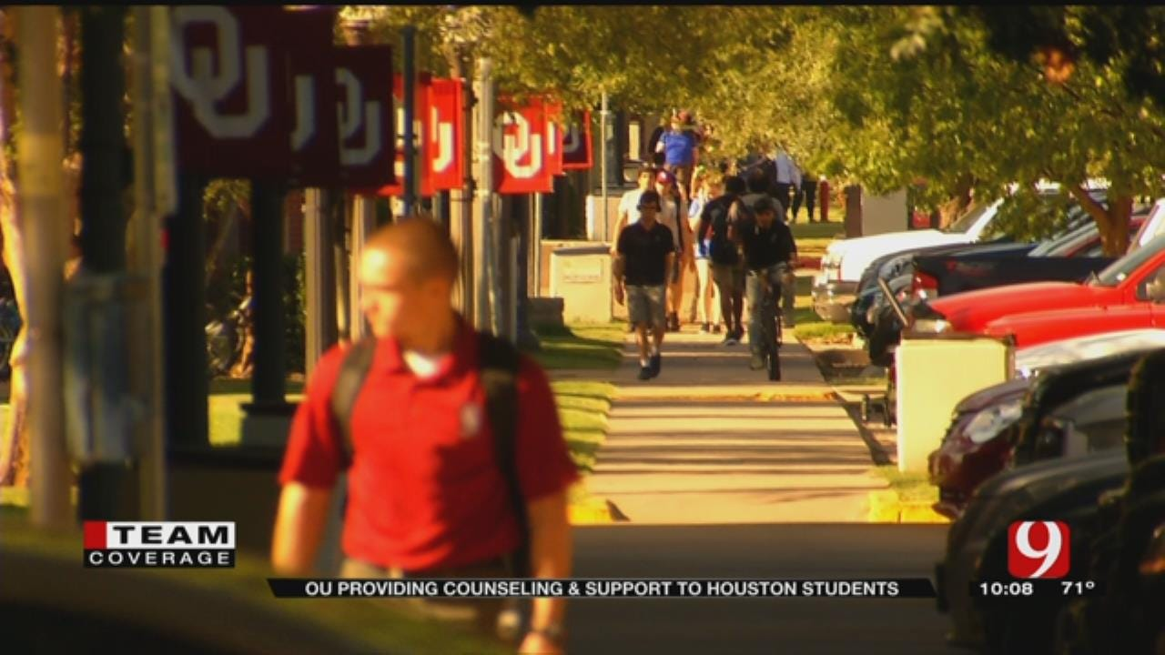 OU Providing Counseling, Support To Houston Students After Harvey