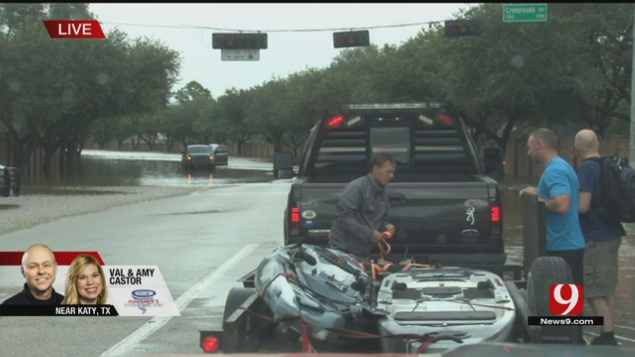 Katy Apartment Residents Flee As Flooding Rises To Second Floor