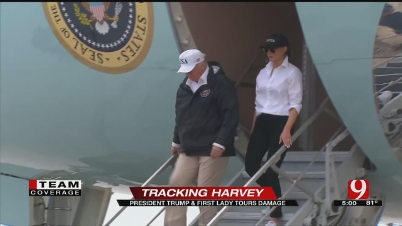Pres. Trump Visits South Texas, Tours Harvey Damage