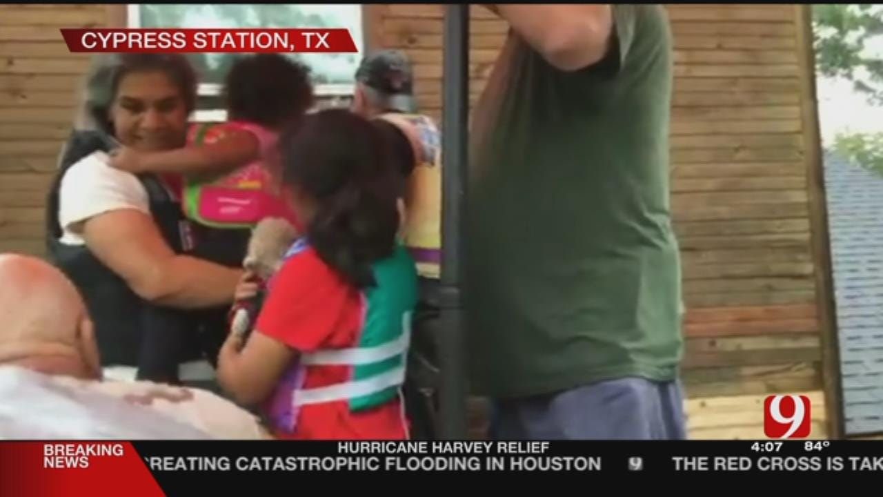 WEB EXTRA: Val, Amy Castor Help Rescue Houston Residents
