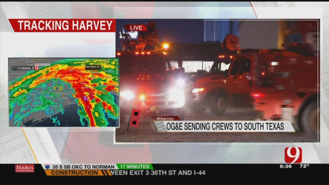 OG&E Crews Head TO Texas Gulf For Harvey Relief Efforts