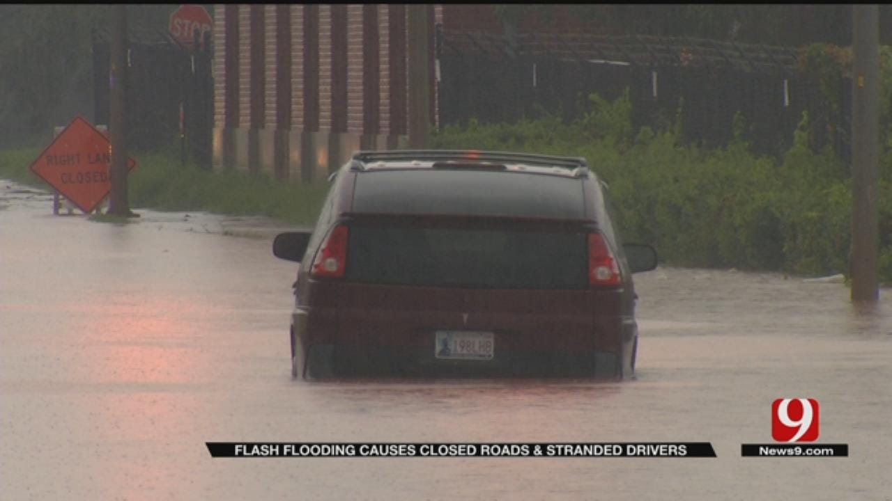 Powerful Rains Lead To Flash Flooding In Metro