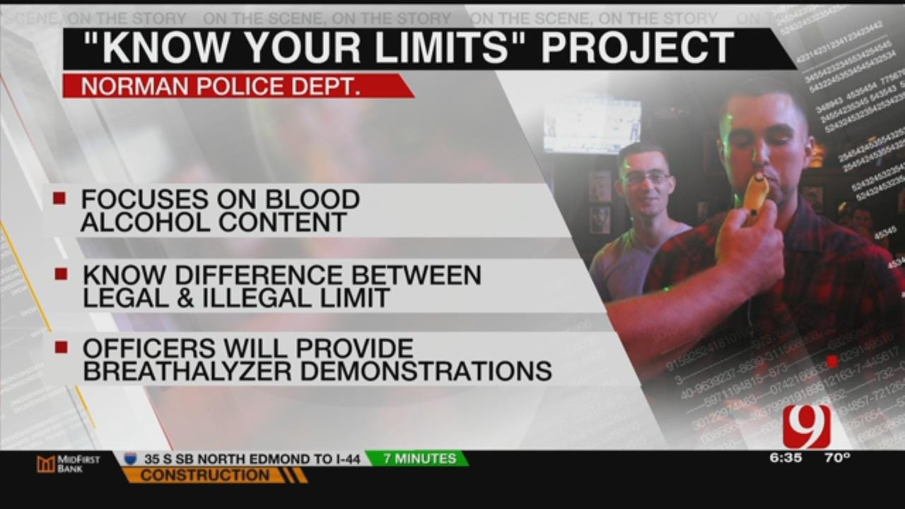 """Norman PD Educating Drinkers To """"Know Their Limits"""""""