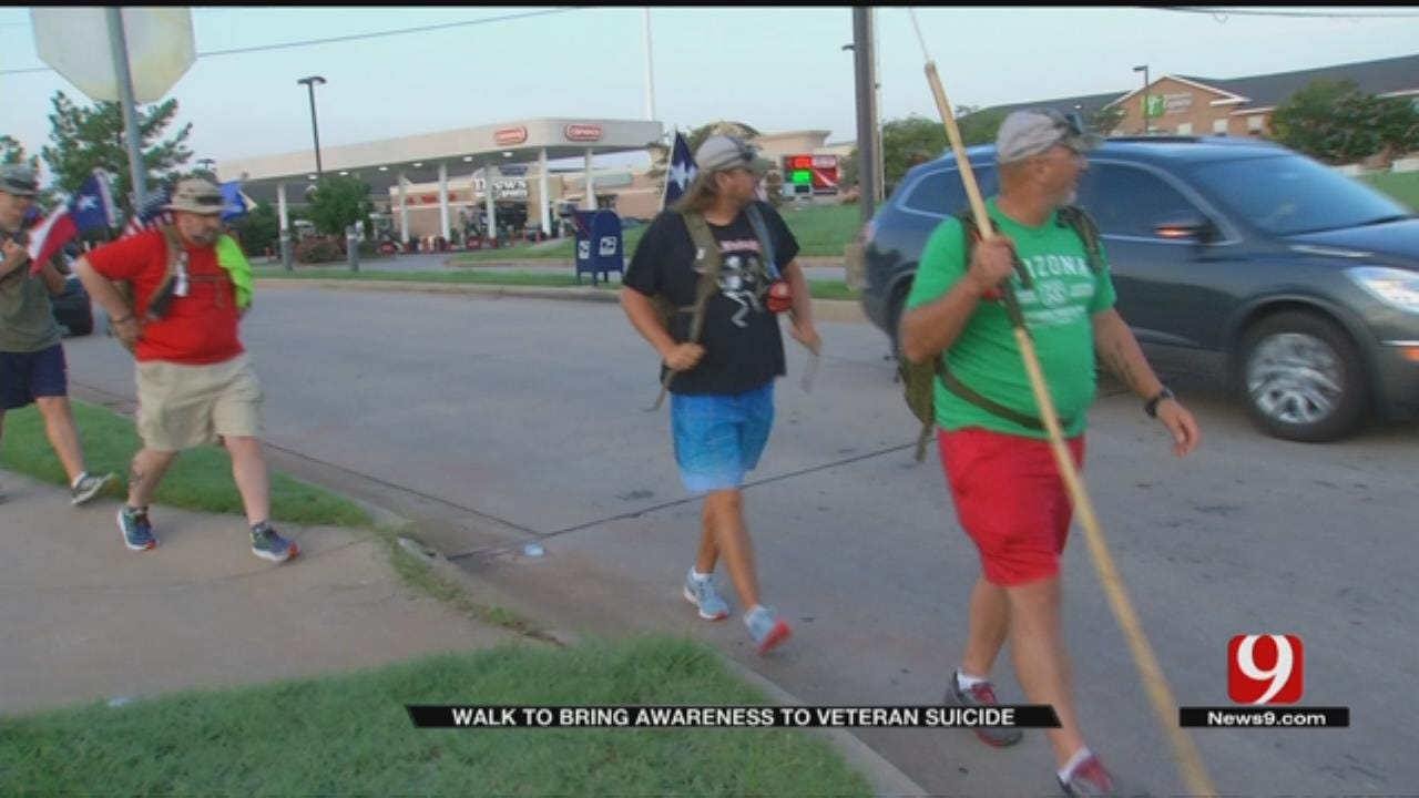 Vets Walk Across The Country To Raise Awareness of Veteran Suicide