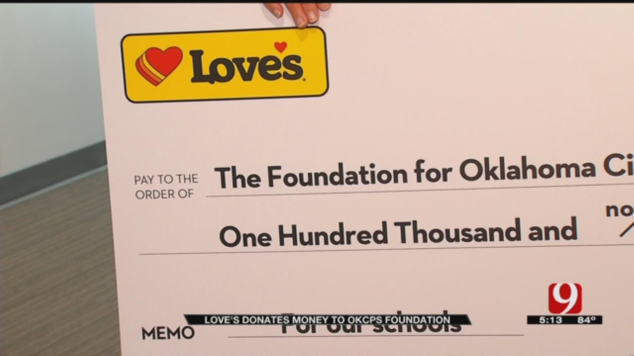 Love's Travel Stop Donates $100,000 To The Foundation For OKCPS