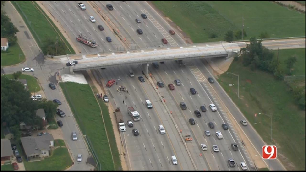 WEB EXTRA: SkyNews 9 Flies Over 'Pedestrian Incident' On I-44