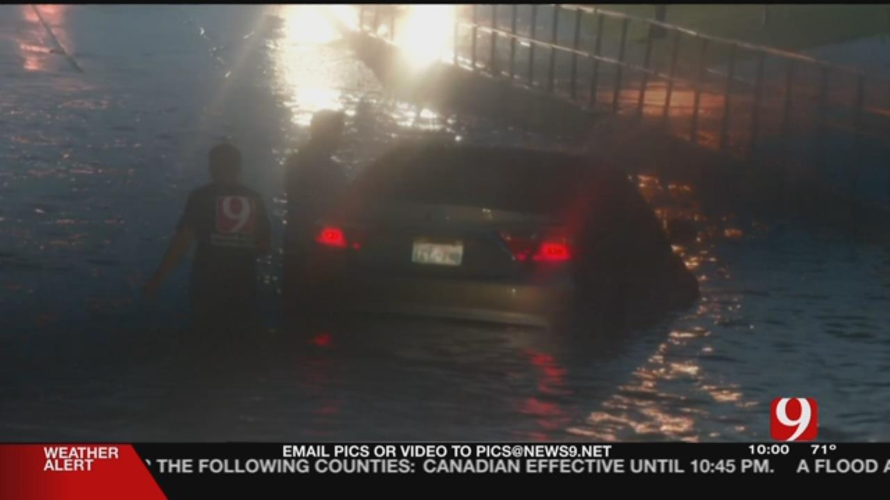 Team Coverage: Heavy Rainfall, Flash Floods Make OKC Metro Roadways Impassable