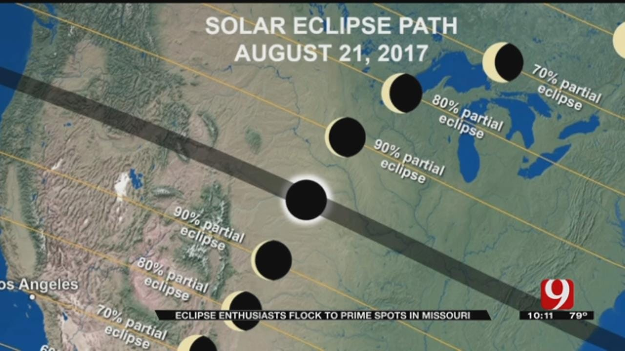 Eclipse Enthusiasts Flock To Prime Spots In Missouri