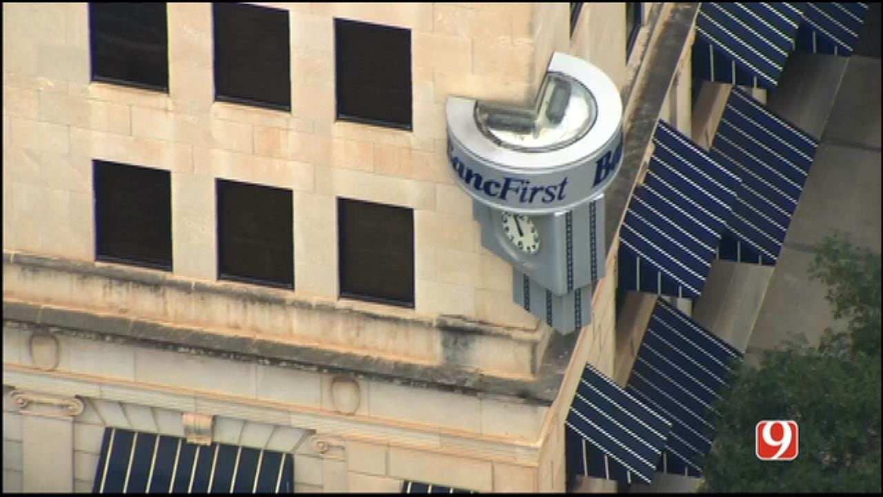 WEB EXTRA: SkyNews 9 Flies Over Downtown OKC BancFirst, Site Of Bombing Plot