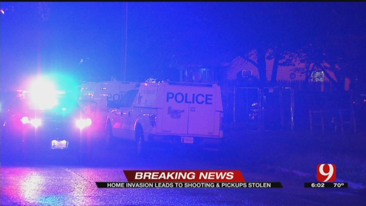 Home Invasion, Theft Leads To Shooting In SW OKC