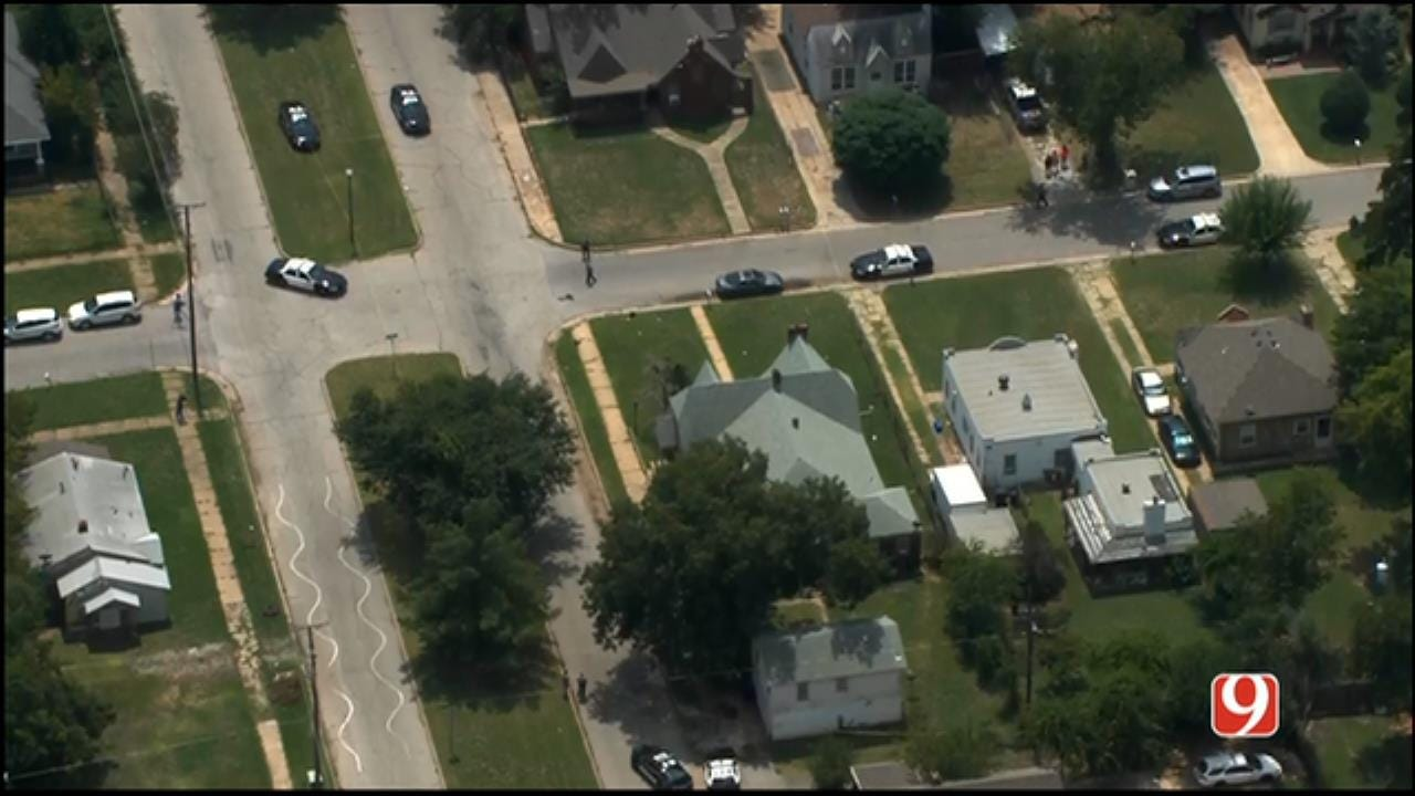 WEB EXTRA: SkyNews 9 Flies Over Shooting Investigation In NW OKC