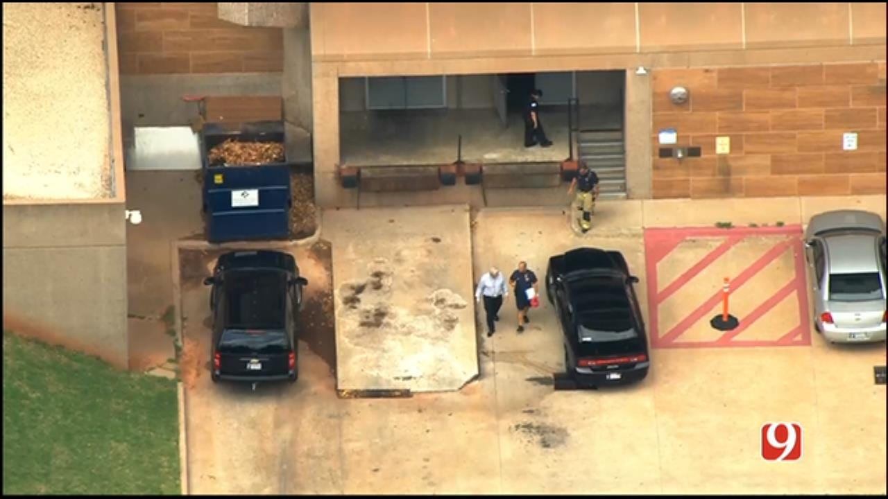 WEB EXTRA: SkyNews 9 Flies Over Suspicious Package Investigation In NE OKC