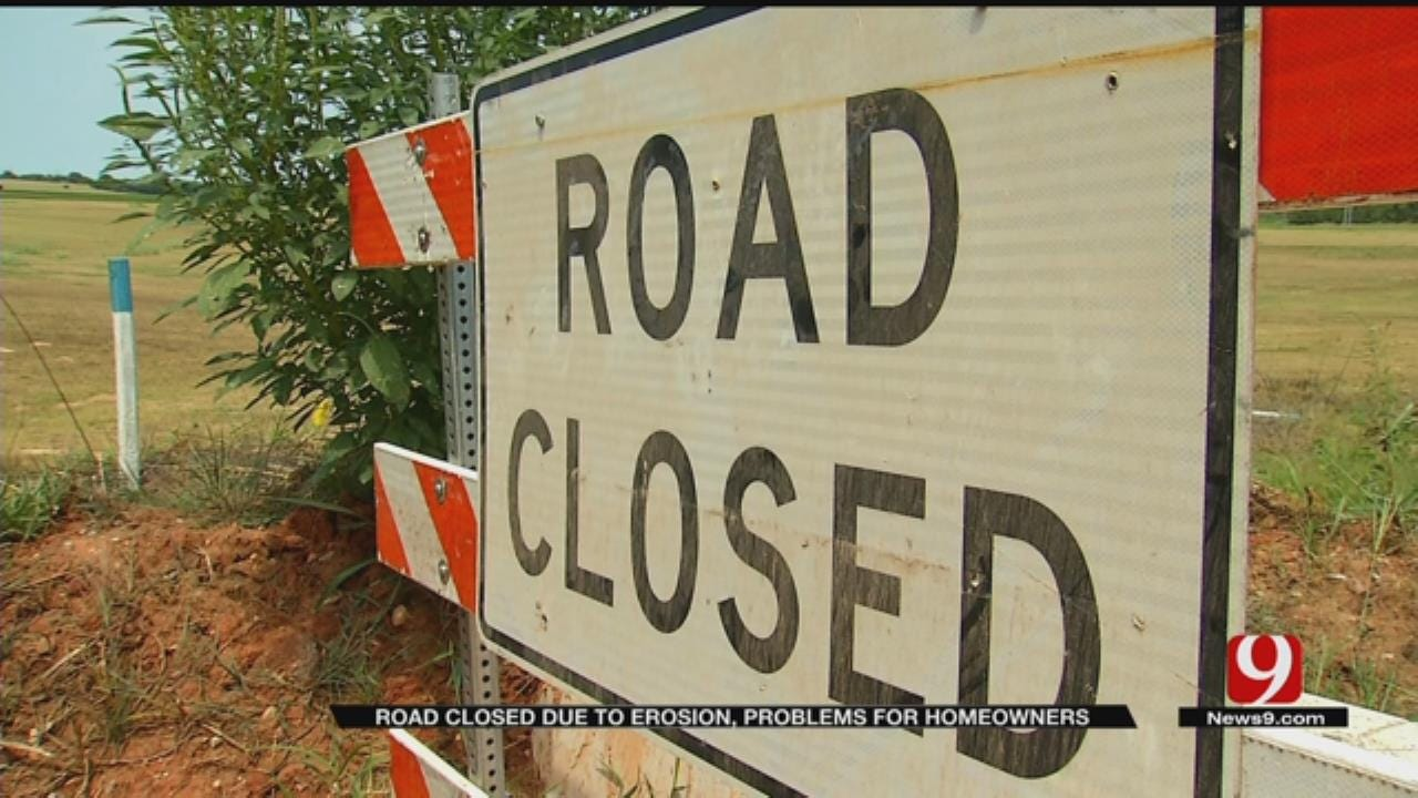 Erosion Closes Road, Threatens Choctaw Home
