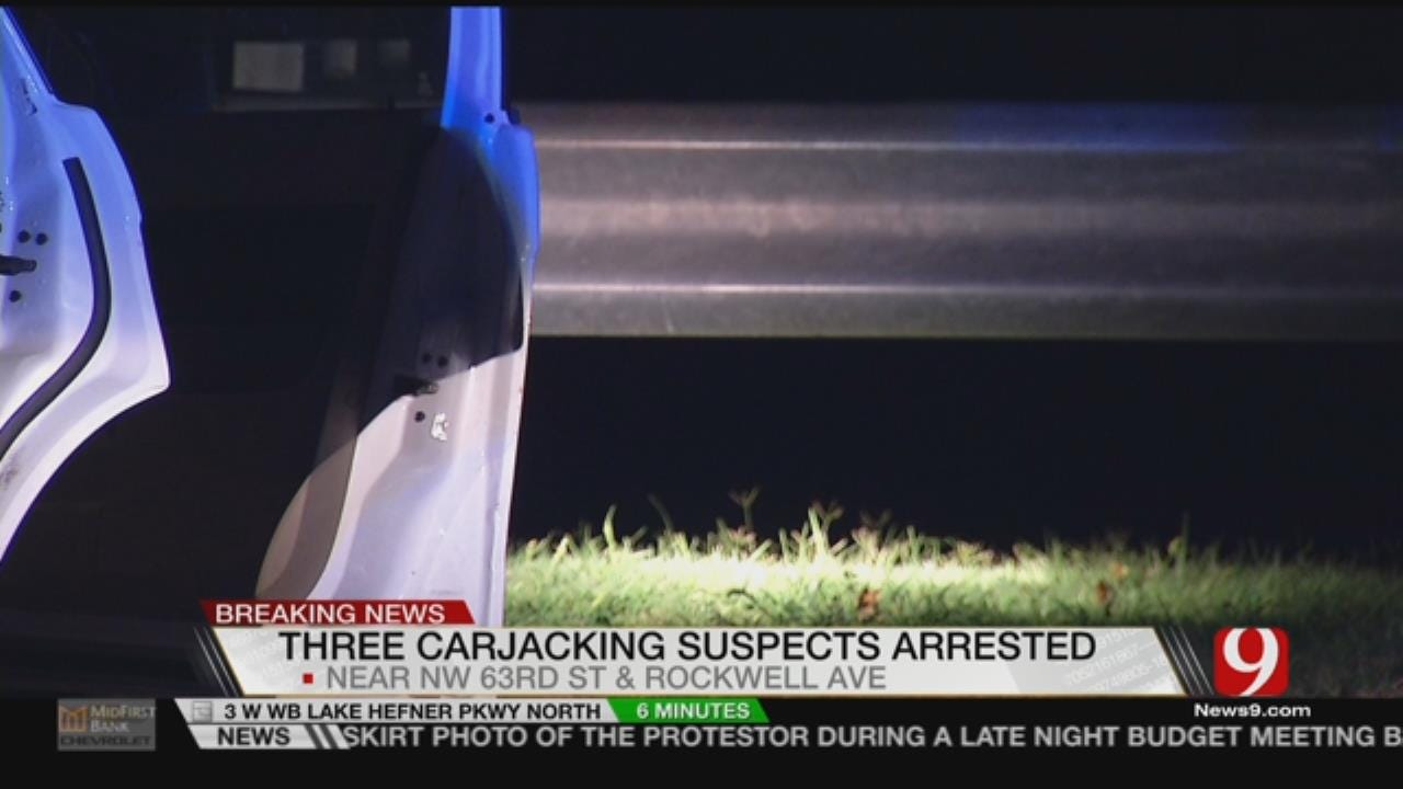 Police Arrest Three Carjacking Suspects In NW OKC