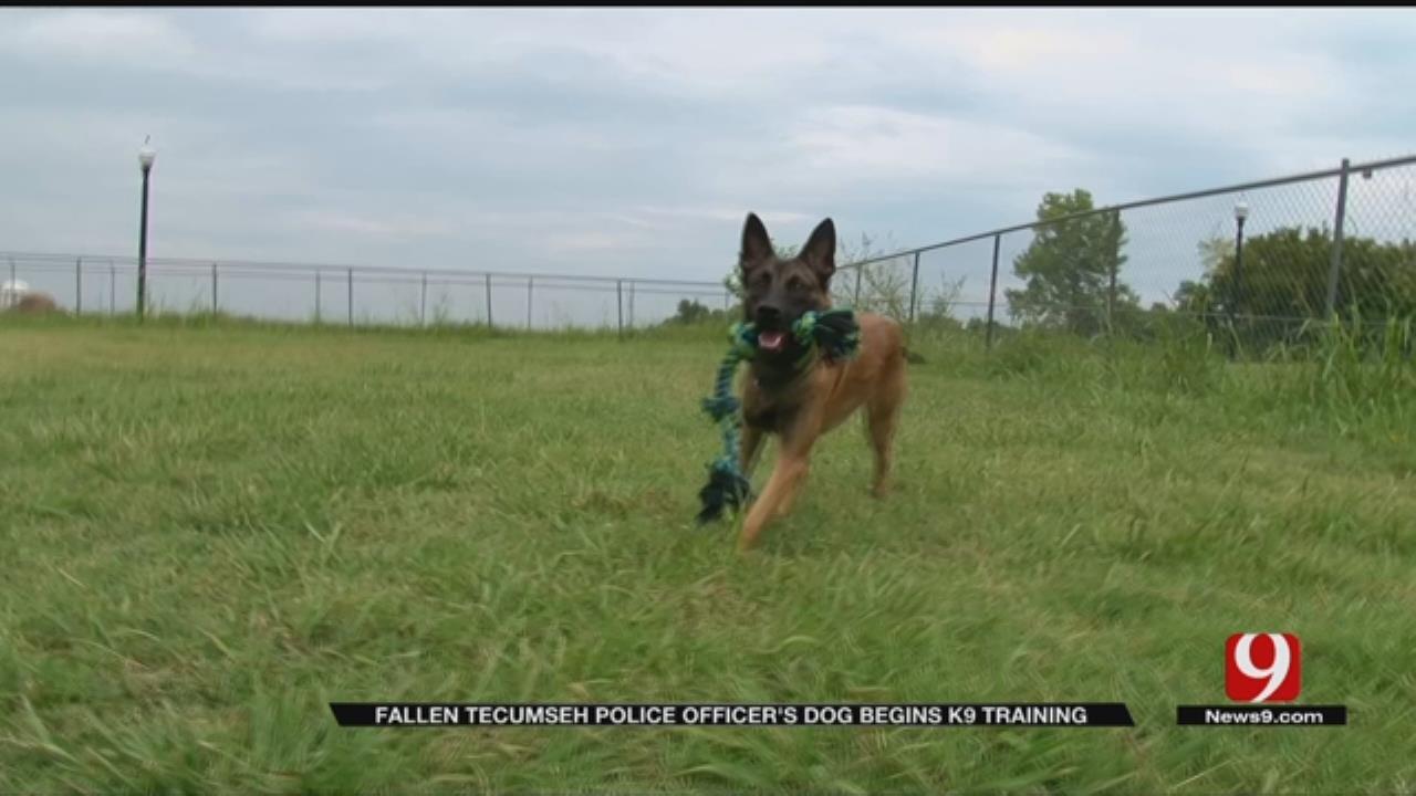 Pott. Co. Deputy Carries Out Fallen Tecumseh Police Officer's Plans