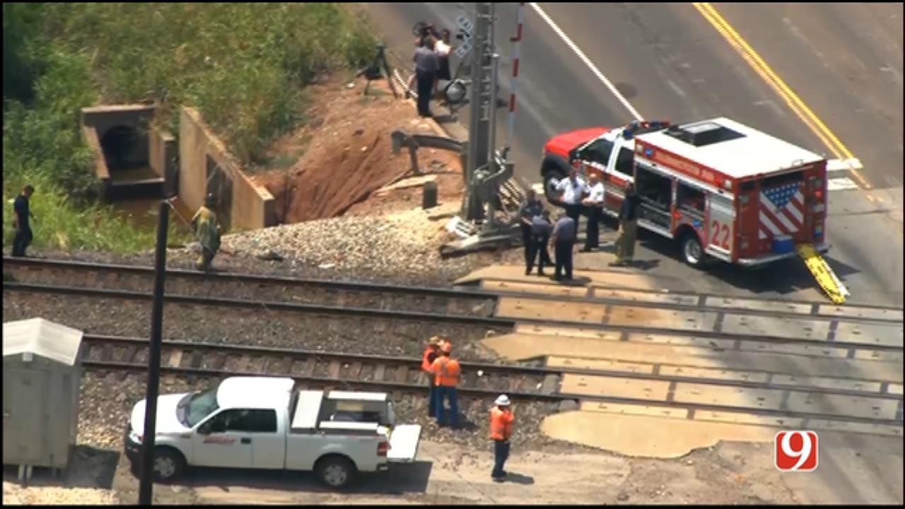 WEB EXTRA: Bob Mills SkyNews 9 Flies Over Fatal Crash Involving Train