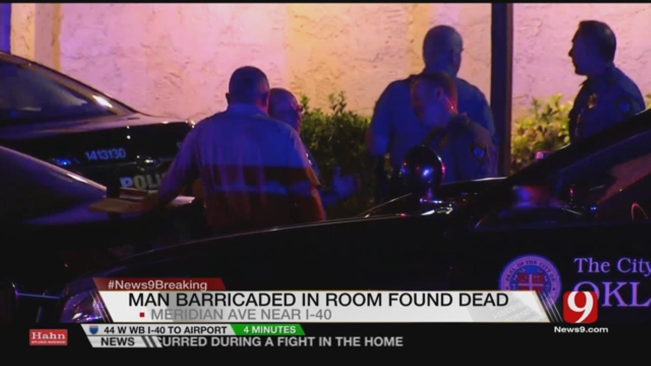 Man Dies After Barricading Himself Inside Hotel Room In S. OKC