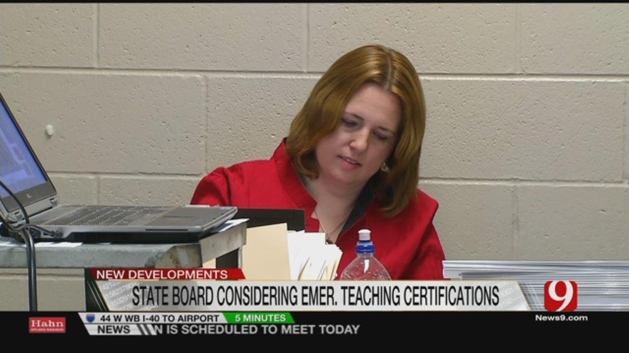 State School Board Meets To Discuss More Emergency Certifications