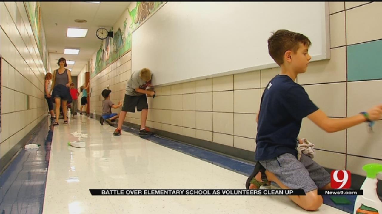 Local Church Steps In To Help Clean Up Oklahoma City School Before Opening