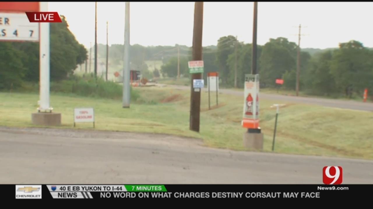 Storm Knocks Down Power Poles, Closes Road In Lexington