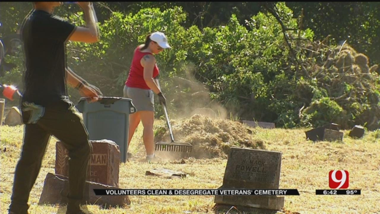 Volunteers Gather To Clean, Desegregate Veteran Cemetery