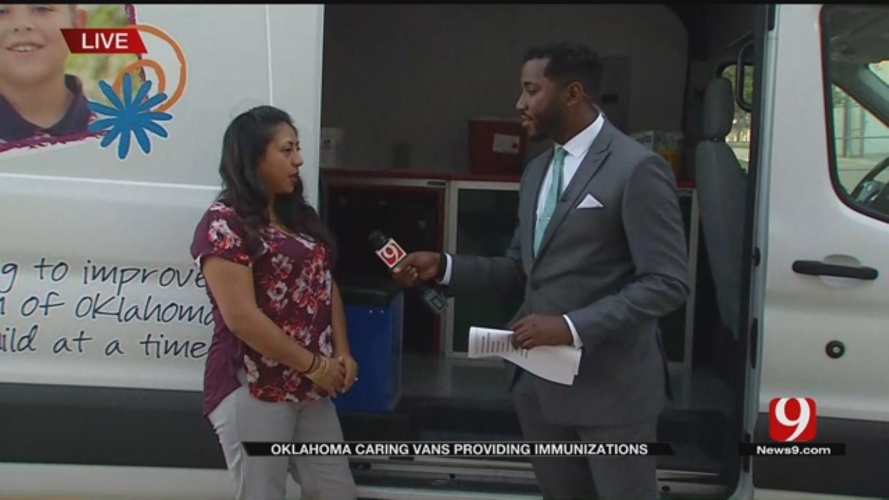 Oklahoma Caring Vans Providing Immunizations