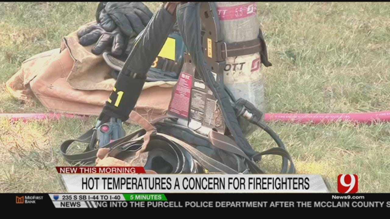 Firefighters Battle Temperatures, Not Just Fires