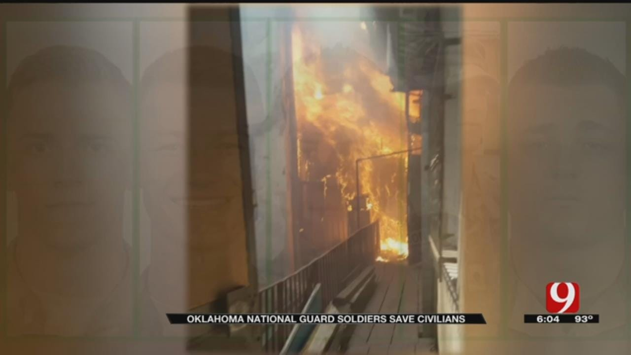 Five Oklahoma National Guard Soldiers Save Residents Of Burning Apartment In Ukraine