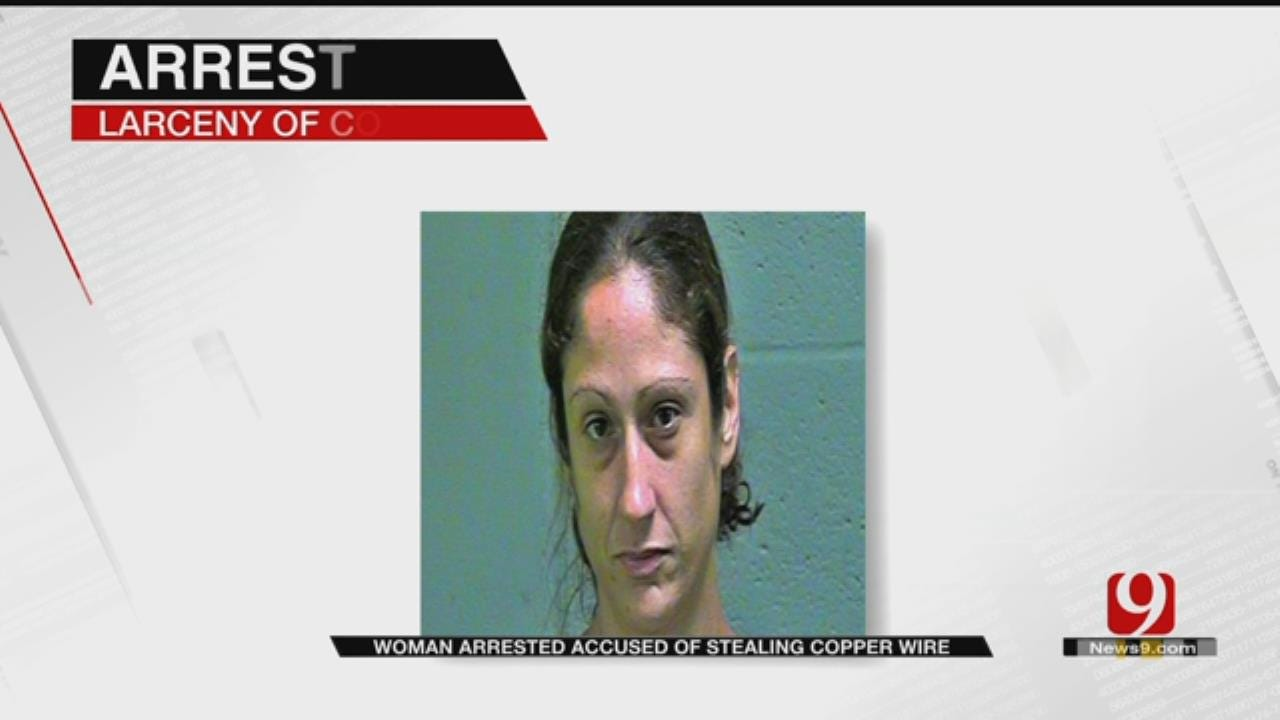Police Catch Woman Stealing Copper Wiring From Metro Home