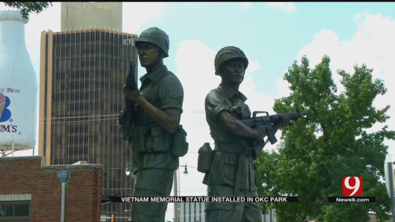 Vietnam Memorial Statue Installed In OKC Park