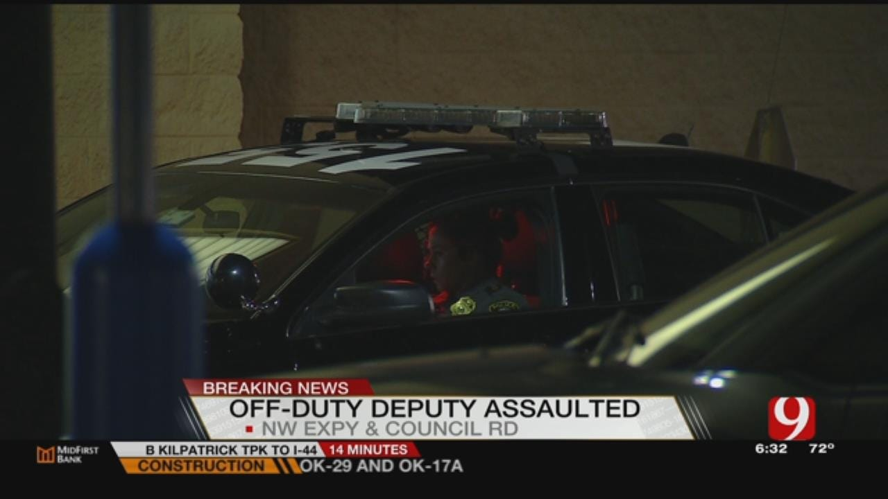 Assault And Battery On An Officer At NW OKC Wal-Mart