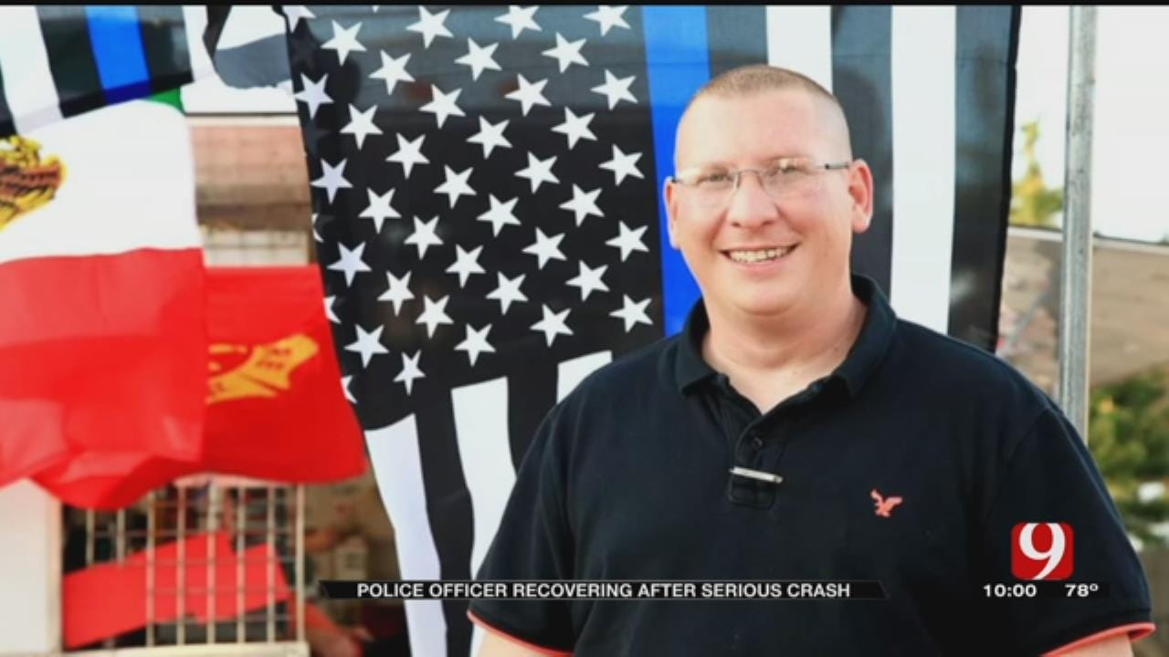 Community Supports Cyril Police Critically Injured In Crash