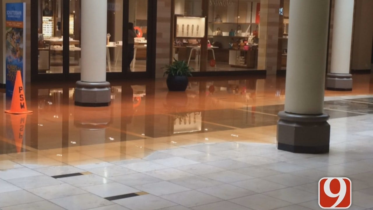 WEB EXTRA: OKCFD Updates Flooding Situation At Penn Square Mall