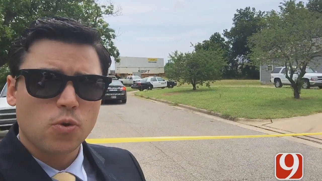 WEB EXTRA: News 9's Grant Hermes On Scene Fatal Train Accident