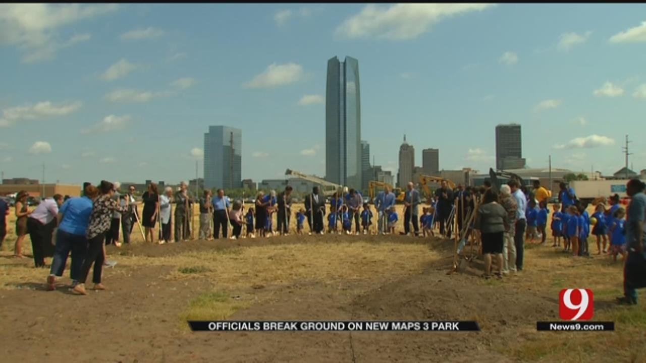 Officials Break Ground On New MAPS 3 Park In OKC