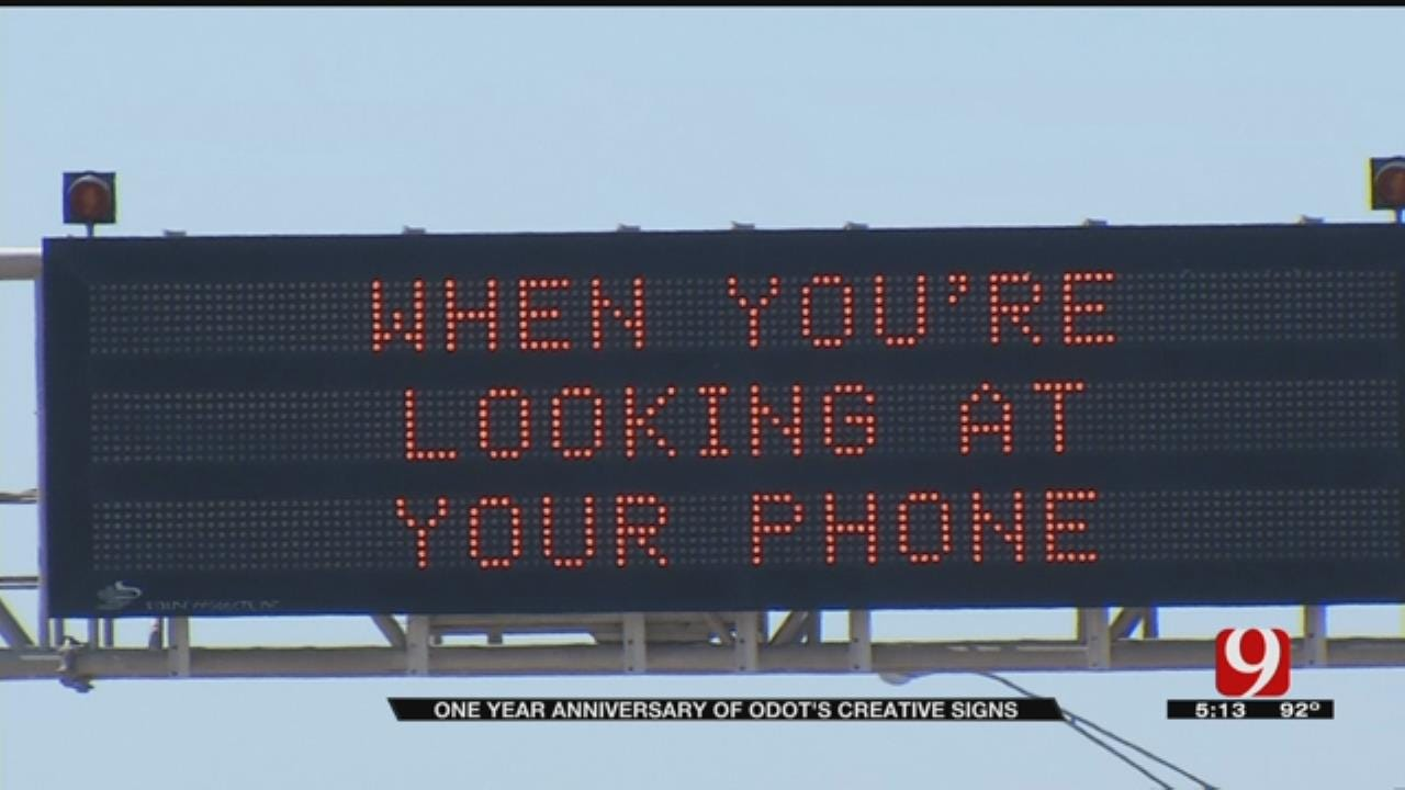 ODOT Uses Clever Signs To Urge Safety