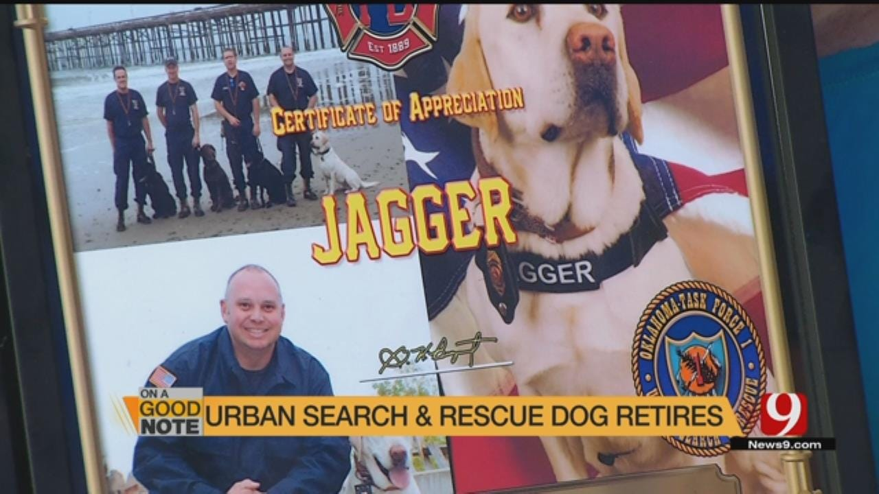 "Search & Rescue Dog ""Jagger"" Retires"